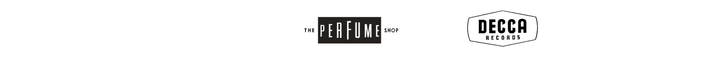 decca records and perfume shop logos