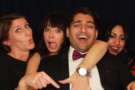 Corporate Team in our Photo Booth