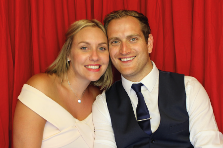 Couple in our Photo Booth